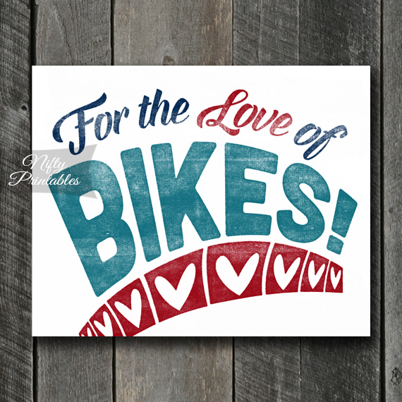 Bikes Print - For Love