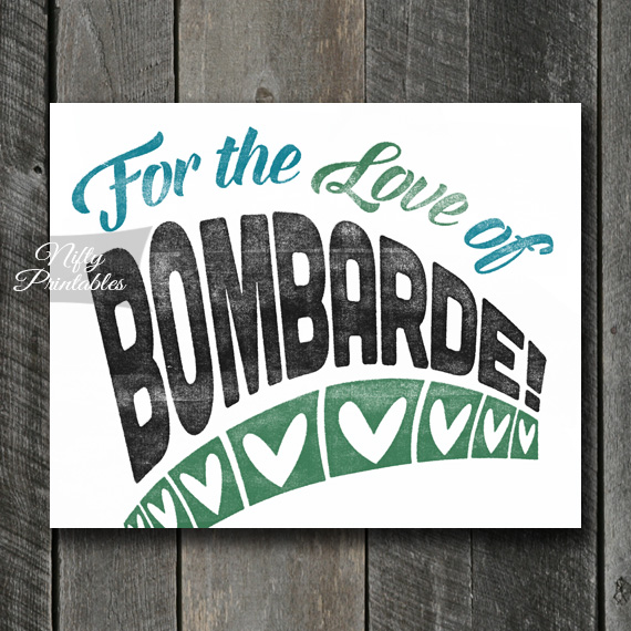 Bombarde Print - For Love