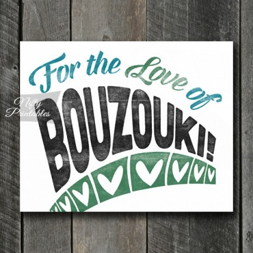 Bouzouki Print - For Love