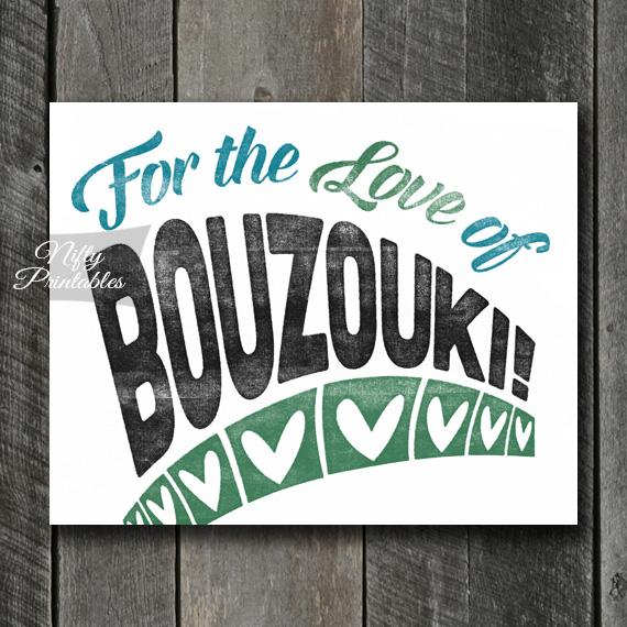 Bouzouki Print - For Love
