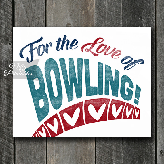 Bowling Art Print - For Love