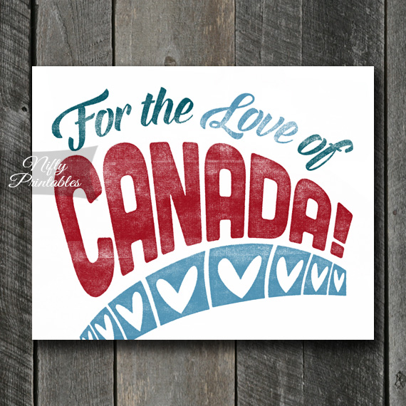 Canada Print - For Love