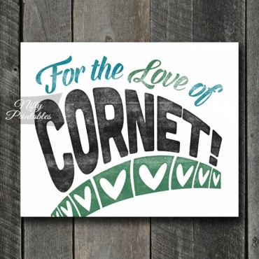 Cornet Print - For Love
