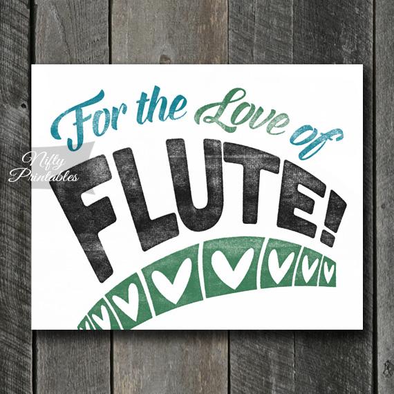 Flute Print - For Love