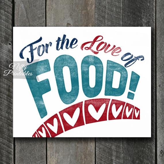 Food Print - For Love
