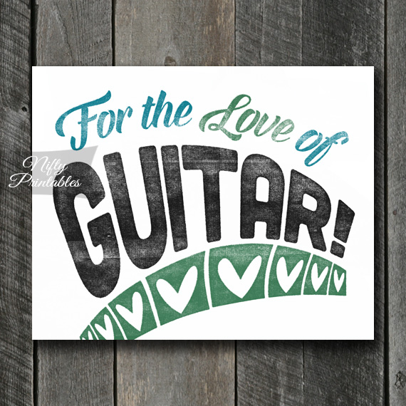 Guitar Print - For Love