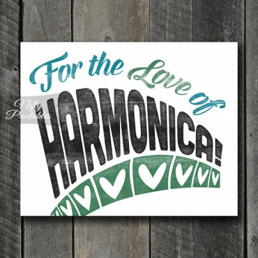 Harmonica Print - For Love