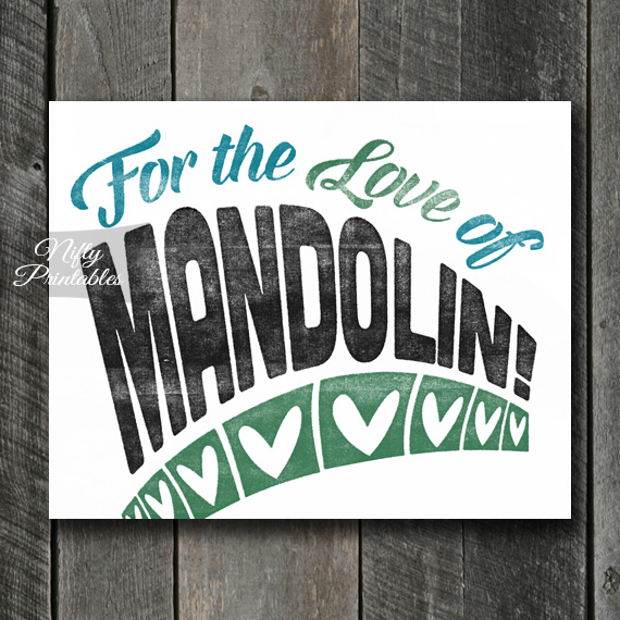 Mandolin Print - For Love