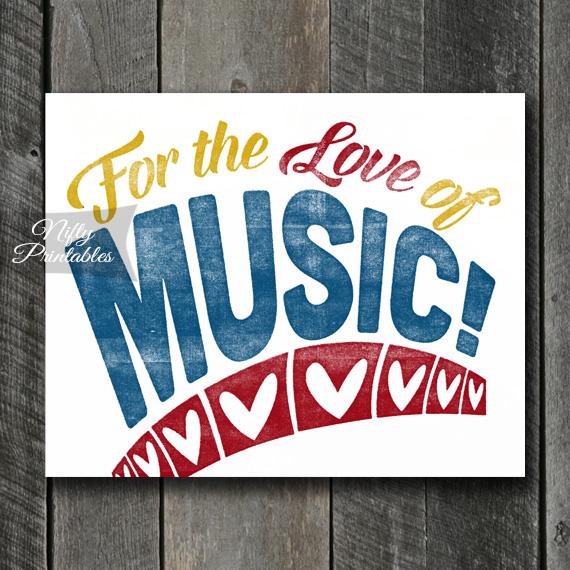 Music Print - For Love