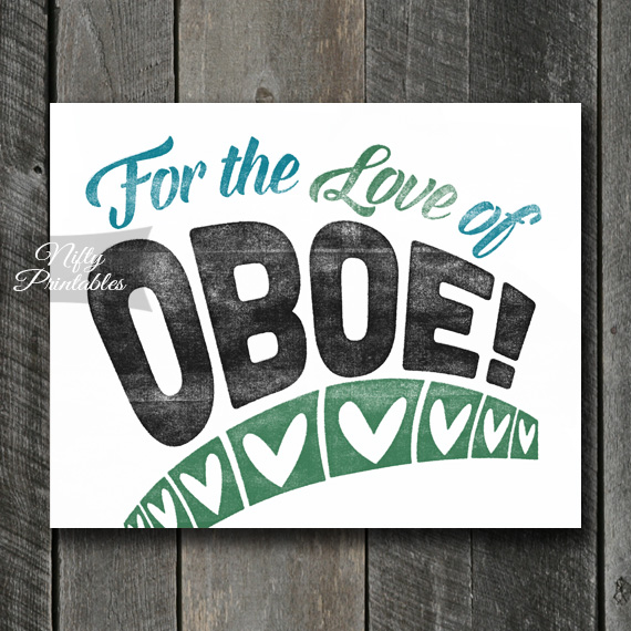 Oboe Print - For Love