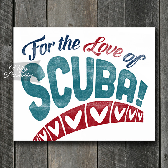 Scuba Art Print - For Love