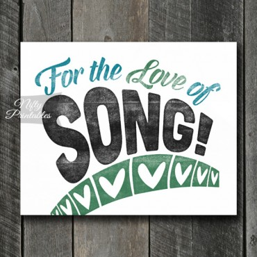 Song Print Singer Art - For Love