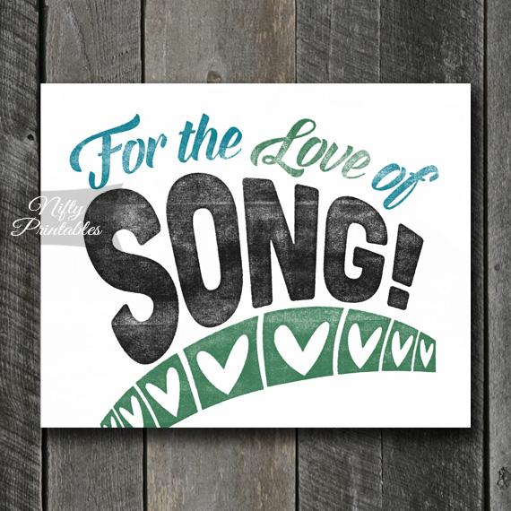 Song Print Singer Art - For Love