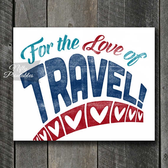 Travel Print - For Love