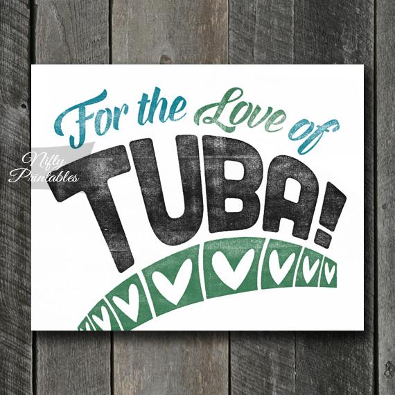 Tuba Print - For Love