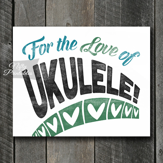 Ukulele Print - For Love