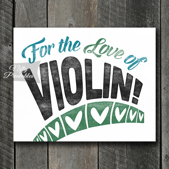 Violin Print - For Love