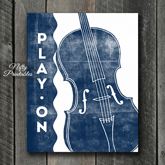 Cello Print - Play On