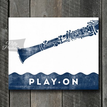 Clarinet Print - Play On