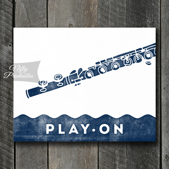 Flute Print - Play On