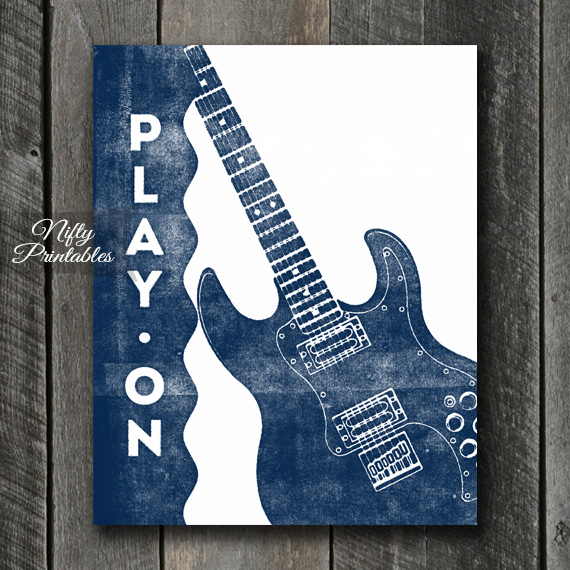 Guitar Print - Play On