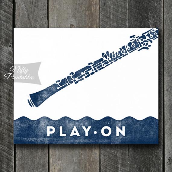Oboe Print - Play On