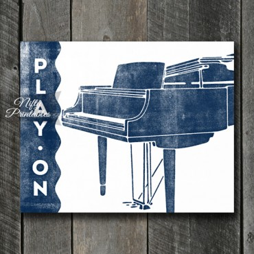 Piano Print - Play On