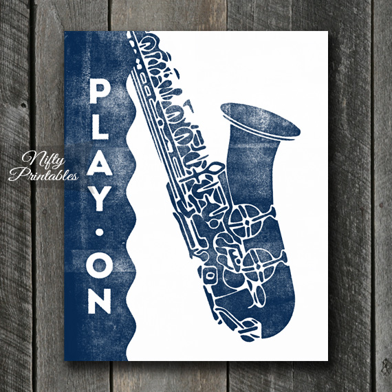 Saxophone Print - Play On