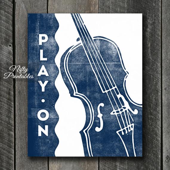 Violin Print - Play On