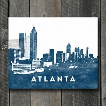 Atlanta Print - Skyline