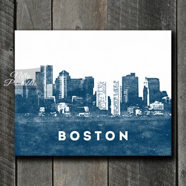 Boston Print - Skyline