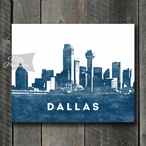 Dallas Print - Skyline