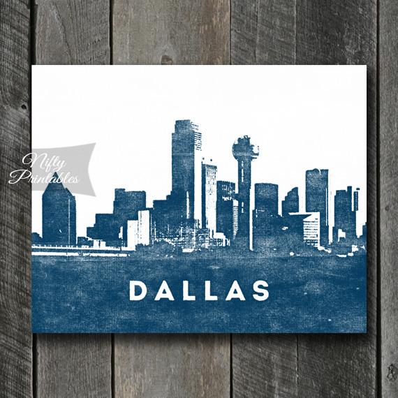 Dallas Print - Skyline