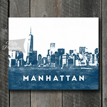 Manhattan Print - Skyline