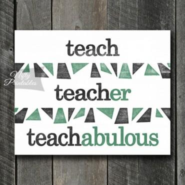 Teacher Art Print - Suffix
