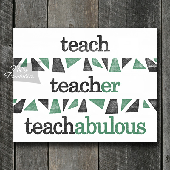 Teacher Art Print - Suffix