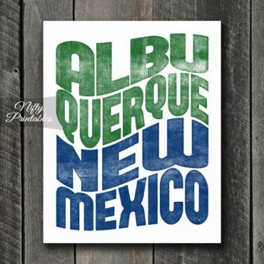 Albuquerque Print - Wave