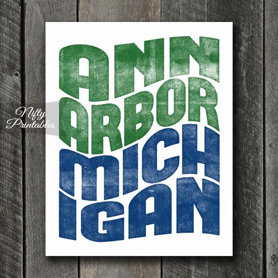 Ann Arbor Print - Wave