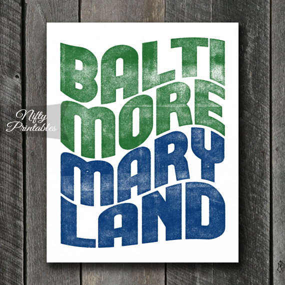 Baltimore Print - Wave