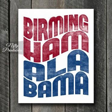 Birmingham AL Print - Wave
