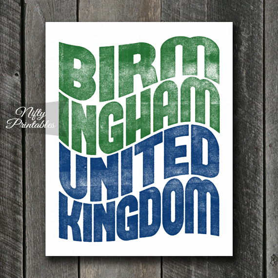 Birmingham UK Print - Wave