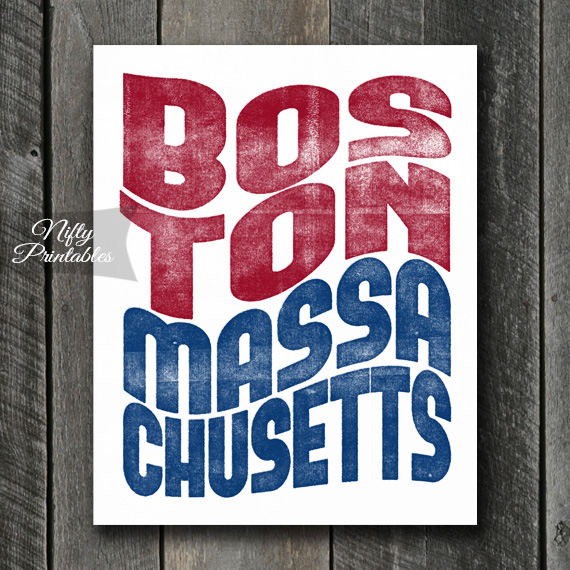 Boston Print - Wave