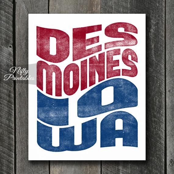 Des Moines Art - Retro Wave