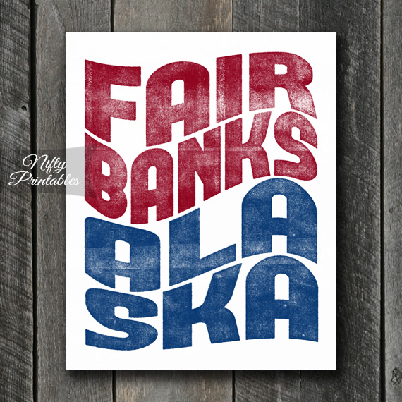 Fairbanks Print - Wave