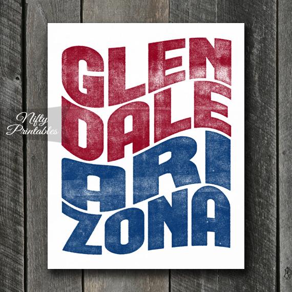 Glendale Print - Wave