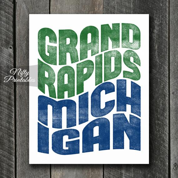 Grand Rapids Print - Wave