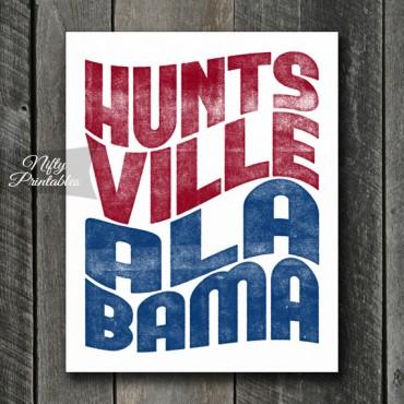 Huntsville Print - Wave