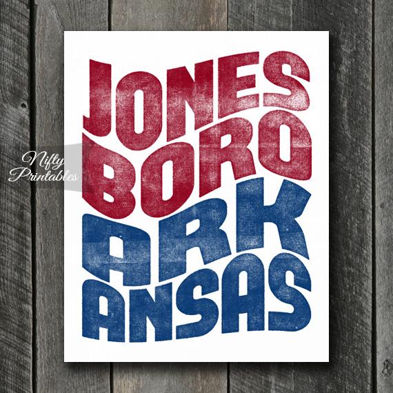Jonesboro Print - Wave