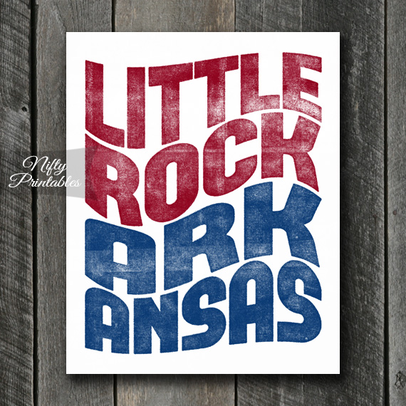 Little Rock Print - Retro Wave