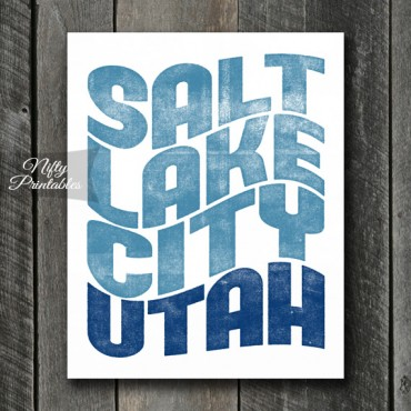 Salt Lake City Print - Wave